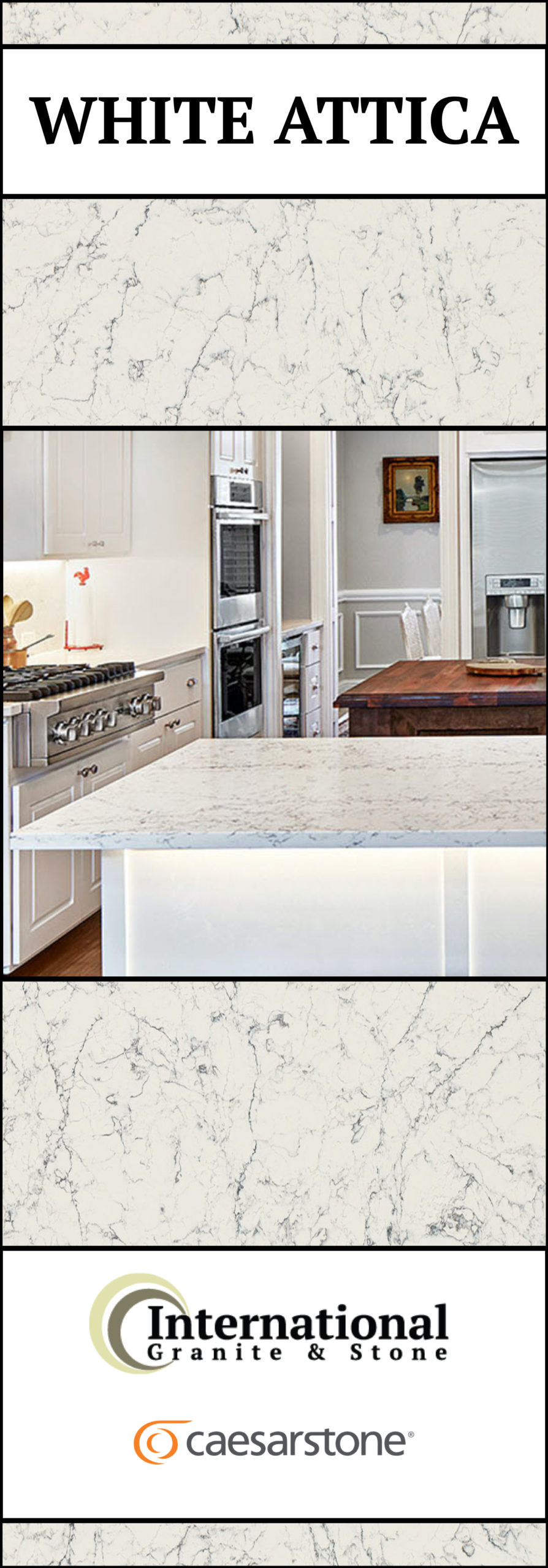 White Attica Caesarstone Quartz Full Slab Pinterest
