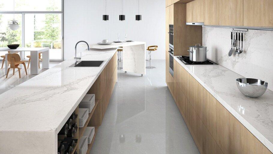 Calacatta Nuvo Caesarstone Quartz Kitchen