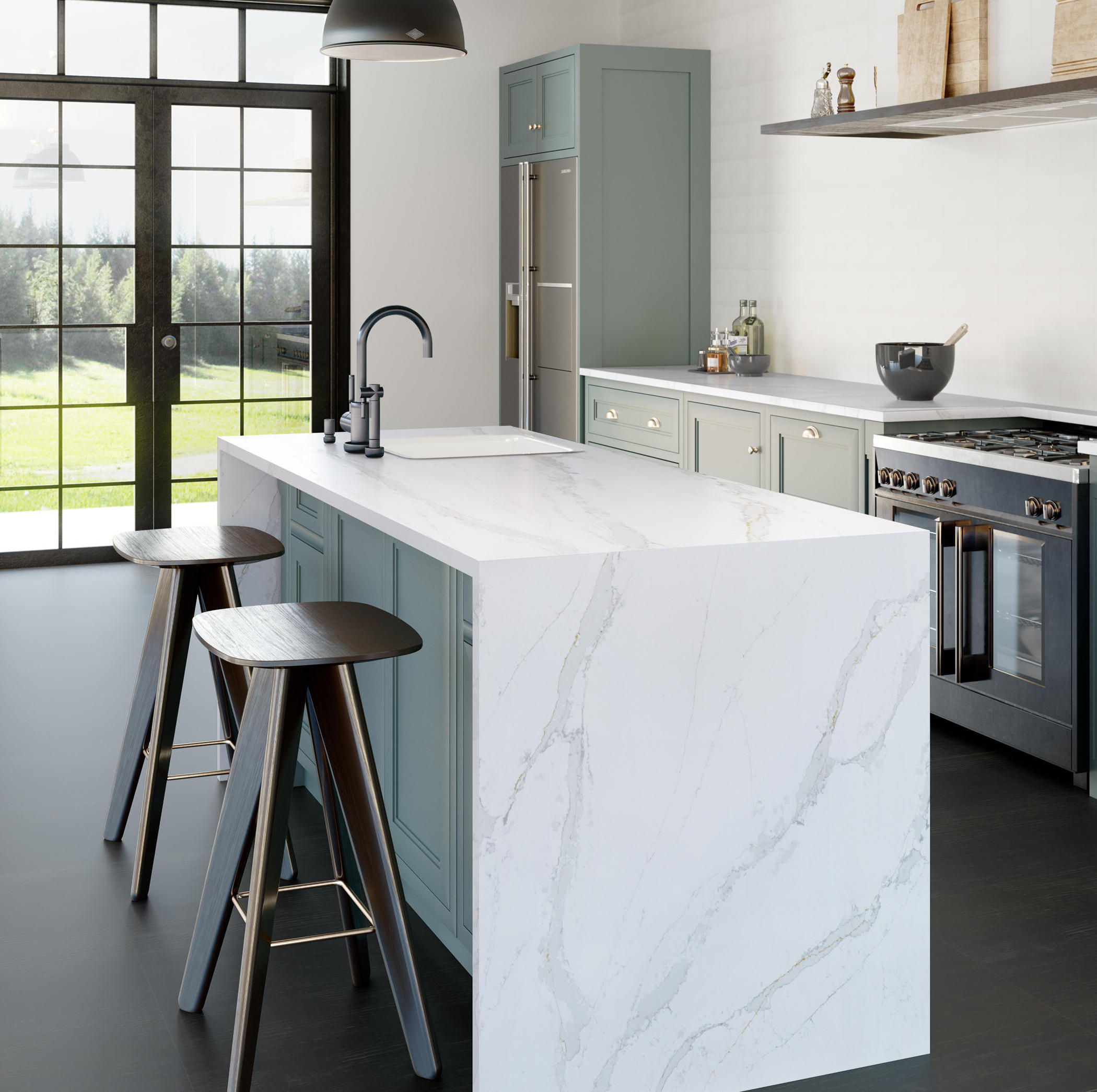 Silestone-eternal-kitchen-calacatta-gold-b