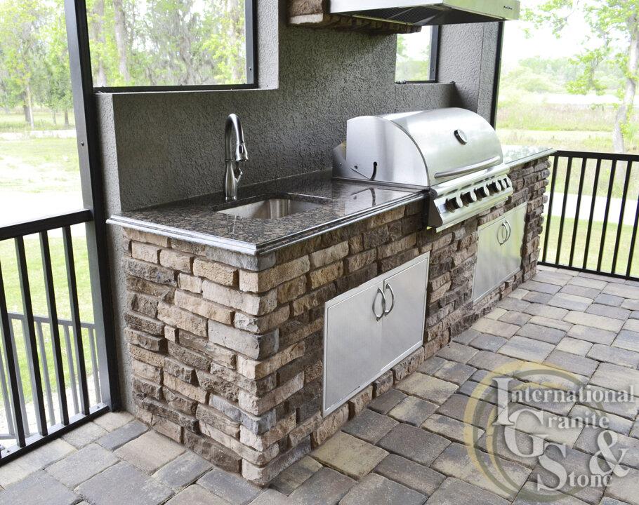 Baltic Brown Granite Outdoor Kitchen Countertops