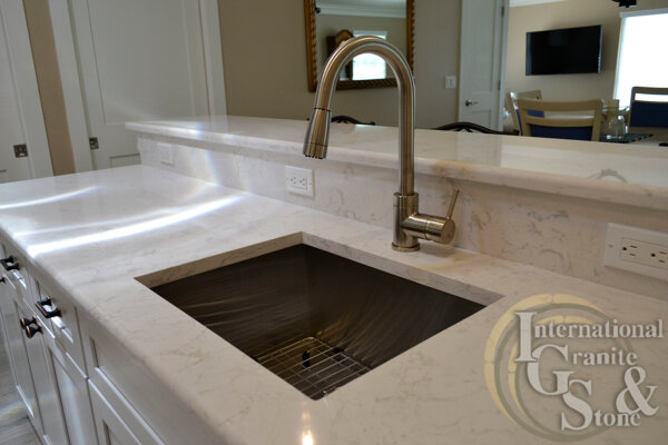 Cambria Quartz Countertops Installed in a Sarasota Kitchen Bathrooms