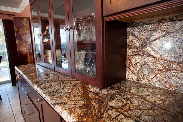 Rainforest Brown Granite Countertops