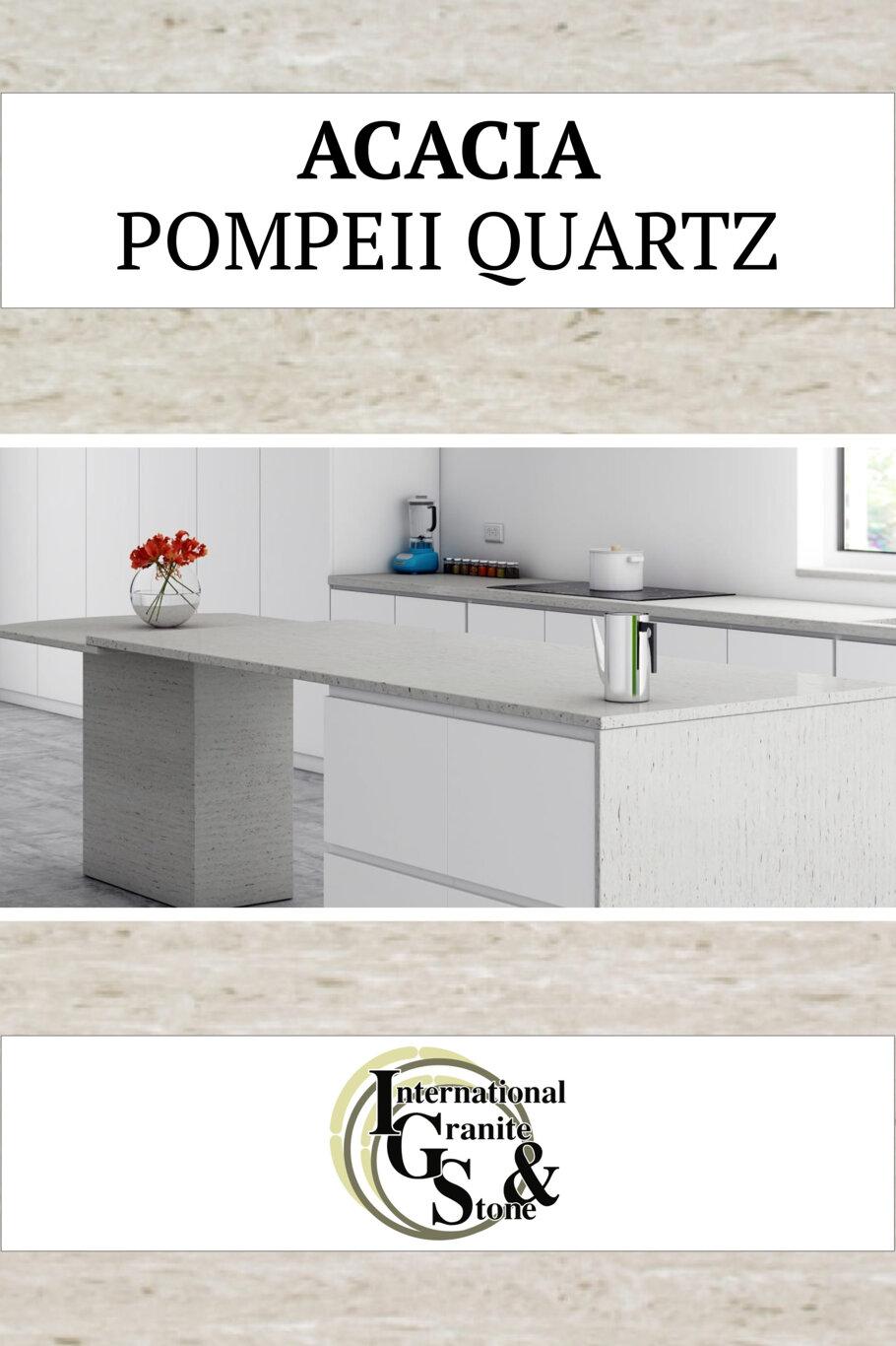 Acacia Pompeii Quartz Countertops