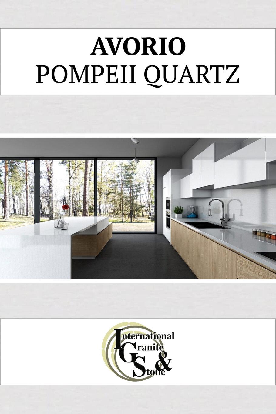 Avorio Pompeii Quartz Countertops