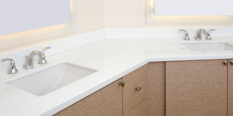LG Viatera Porcelain White Quartz