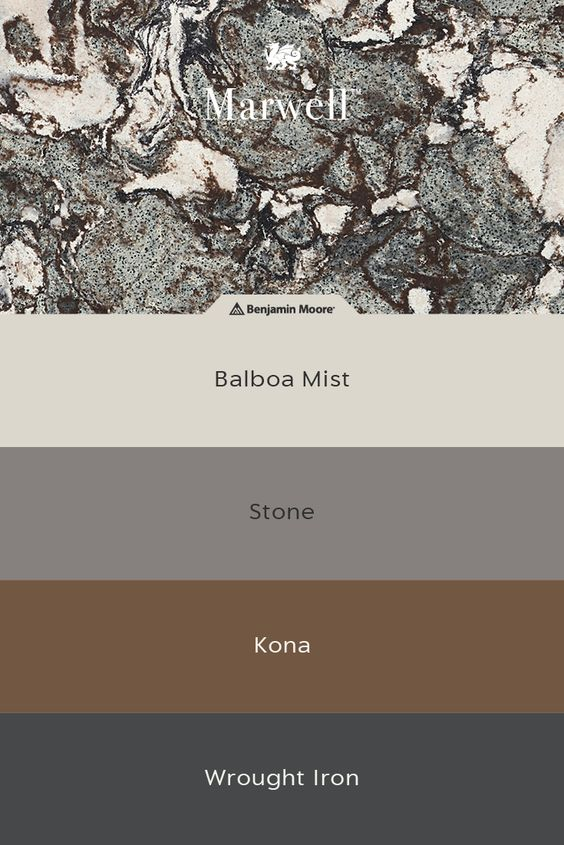Cambria Marwell Quartz Benjamin Moore Paint Samples