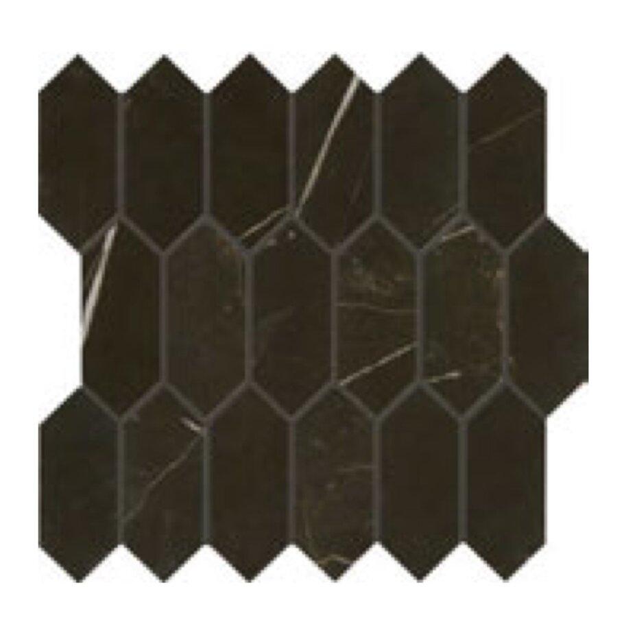 Daltile Marble Attache MA83 2x5 Hex Nero