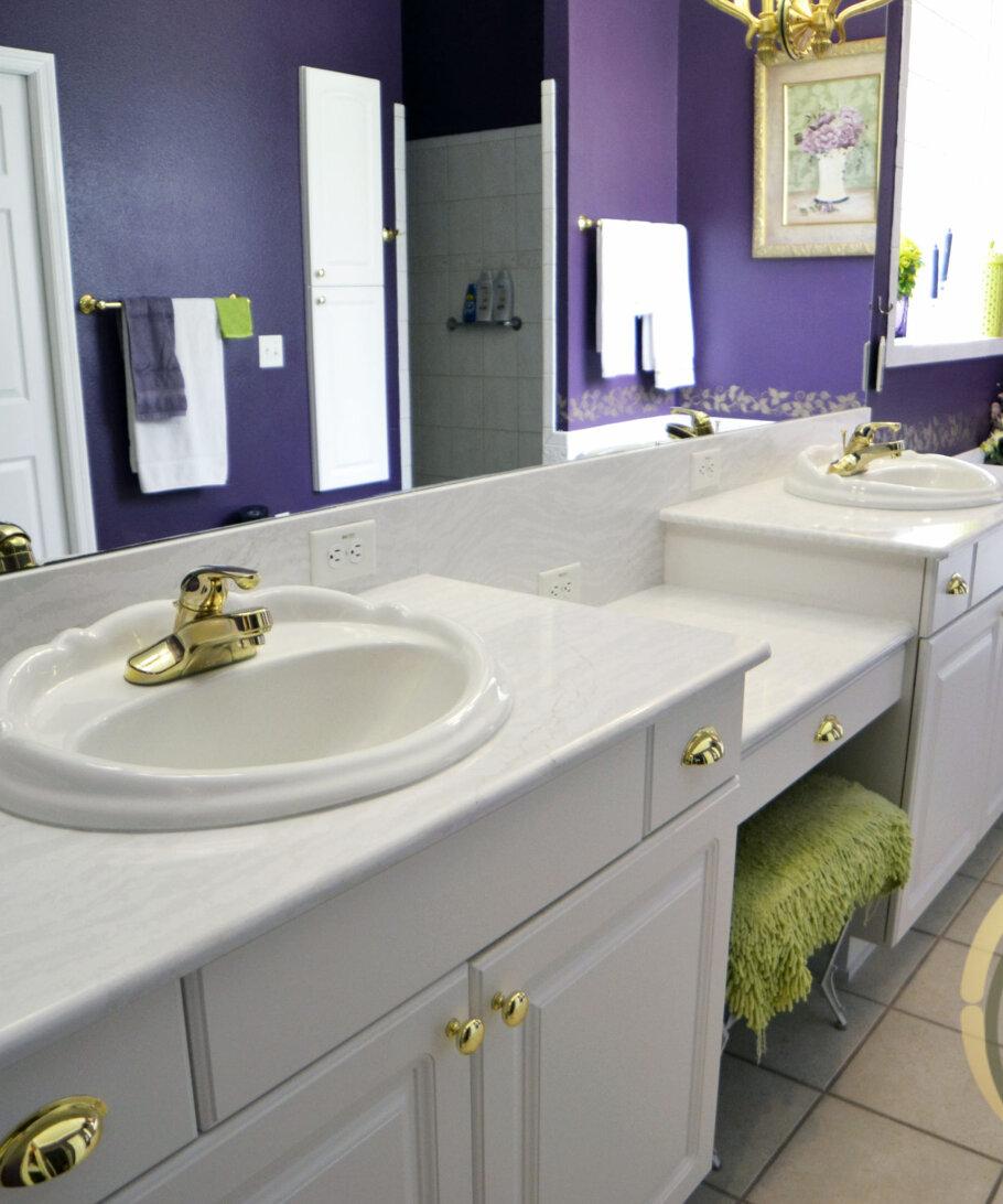Tampa Quartz Bathroom Countertops Cambria Delgatie Quartz