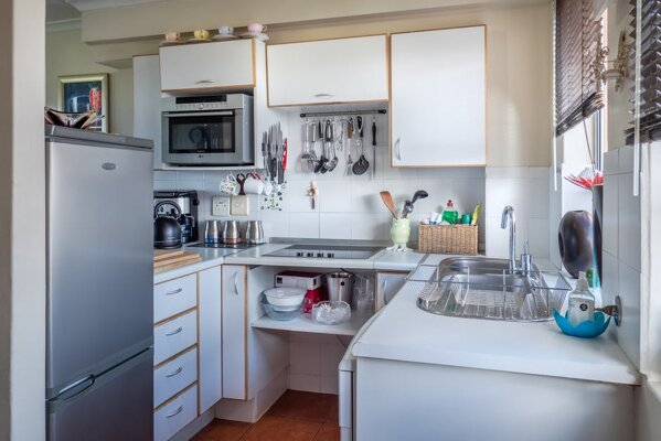 small kitchen counter