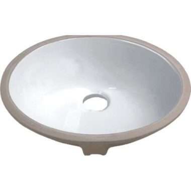 P001-WHITE PROHS Collection White Undermount Vanity Sink