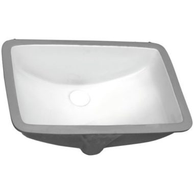 P006-WHITE PROHS Collection White Undermount Vanity Sink