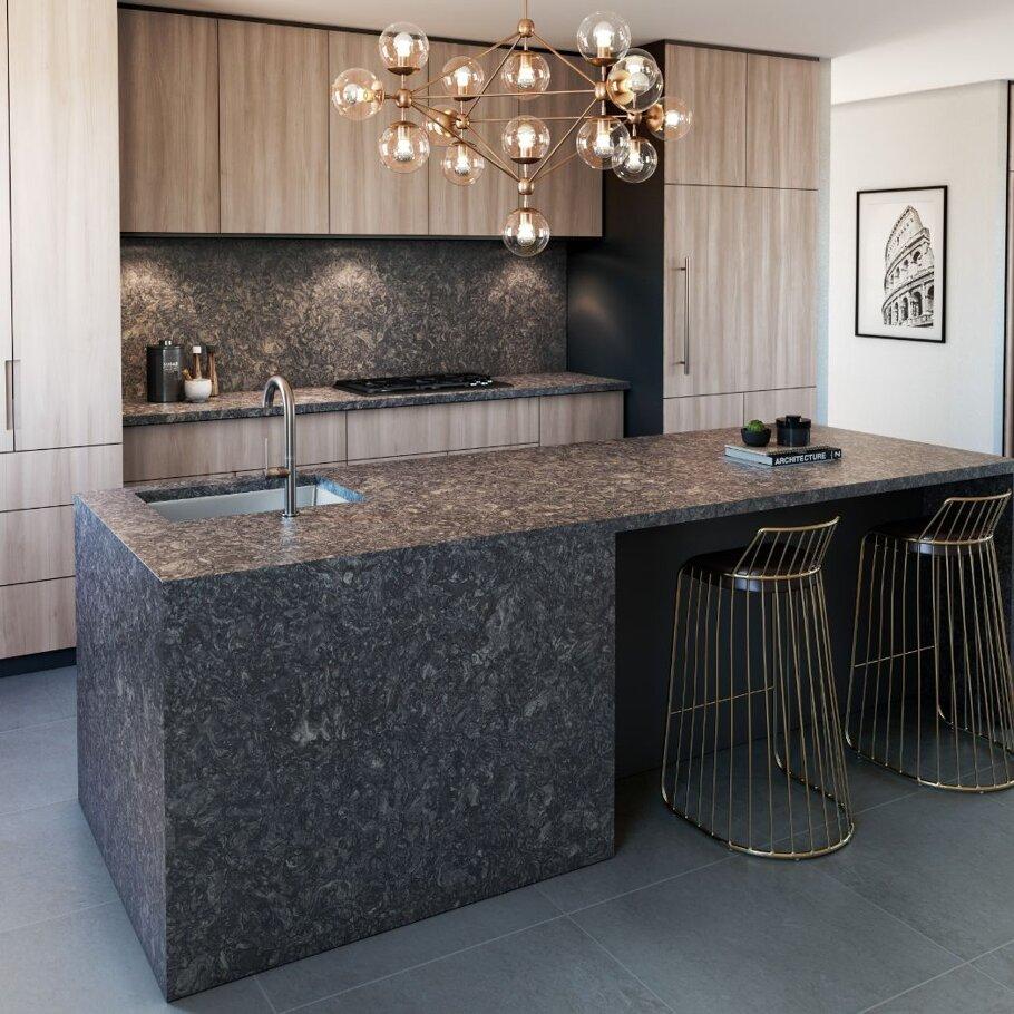 Ashbourne Matte Cambria Quartz Home Depot Kitchen Countertops