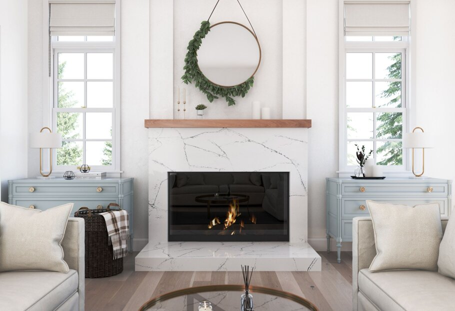 Archdale Cambria Quartz Fireplace Wall