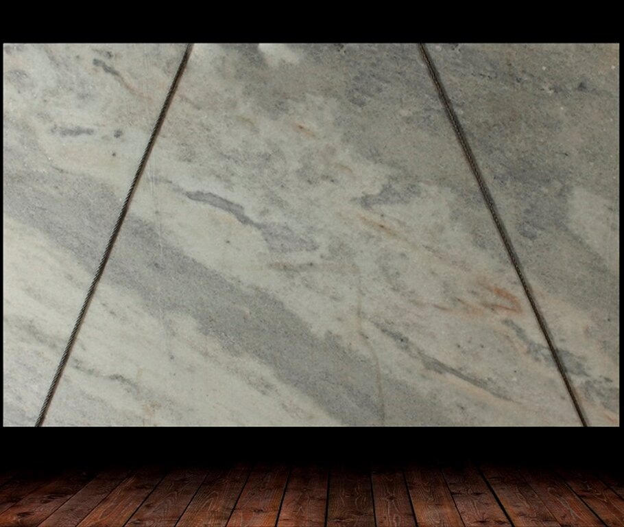 ELEGANTE WHITE LEATHER FINISH MARBLE
