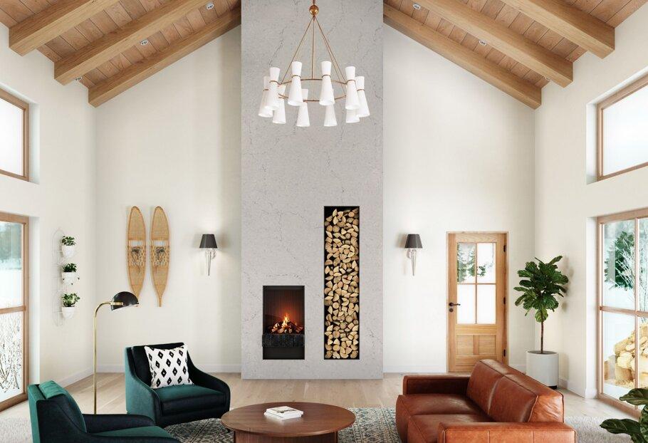St. Giles Cambria Quartz Fireplace Wall