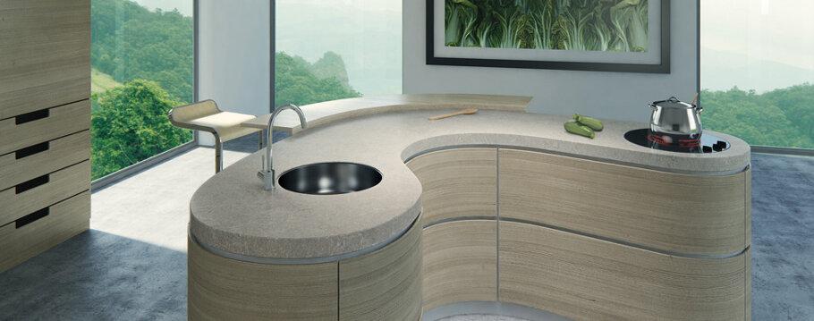 Bianco Drift Caesarstone Quartz Kitchen
