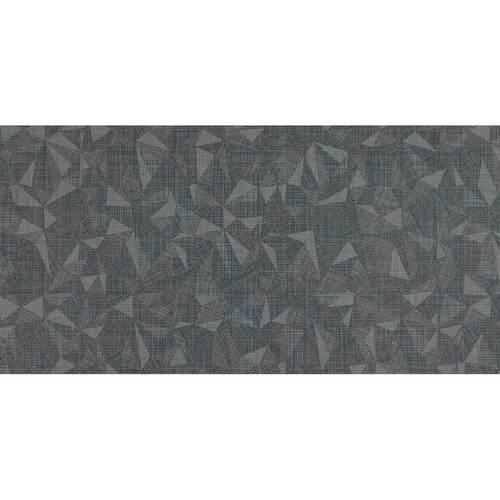 DALTILE FABRIC ART MODERN KALEIDOSCOPE MIDNIGHT STEEL PRISM MK73-7587