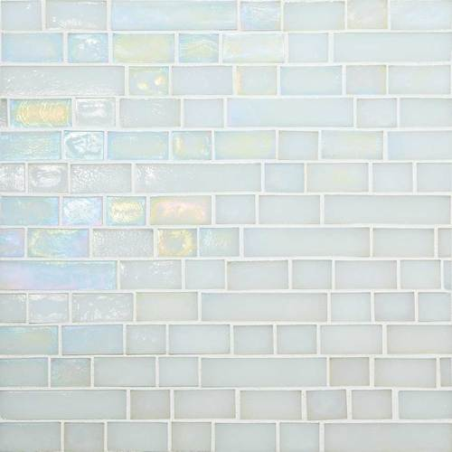 DALTILE GLASS HORIZONS WAVES RANDOM LINEAR MOSAIC