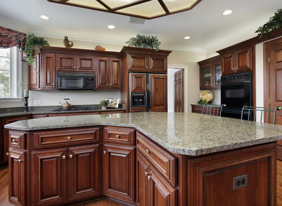 Desert Brown Granite Kitchen