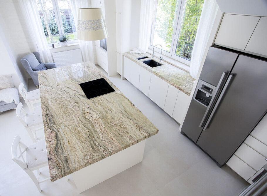 Golden Cascade Granite Kitchen