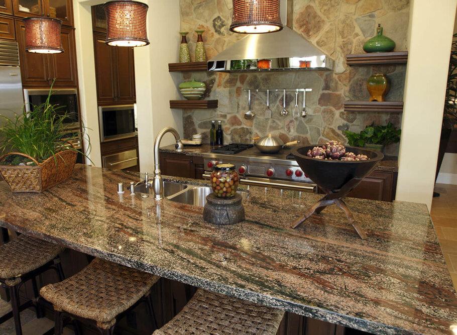 Huracan Gold Granite Kitchen