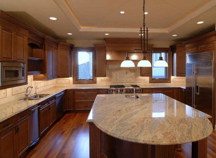 Ivory Gold Granite Kitchen