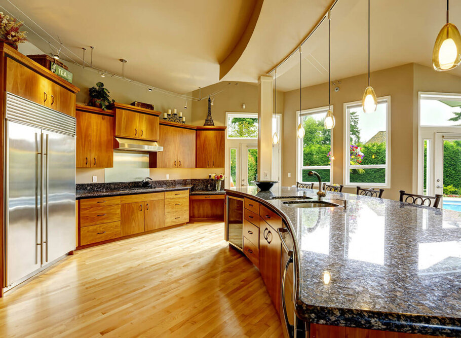 Sapphire Blue Granite Kitchen