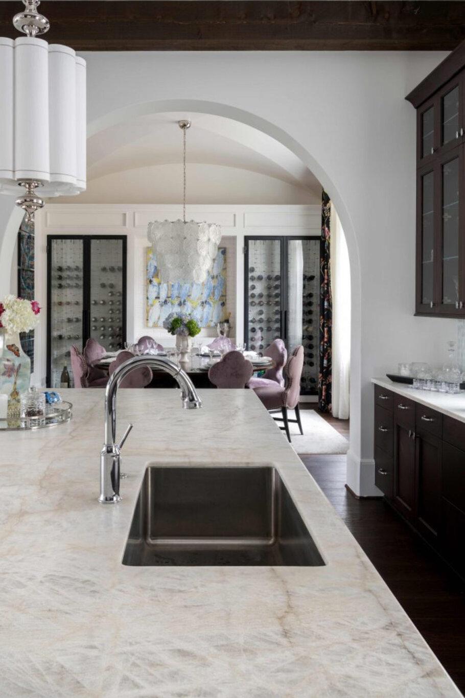 Bianco Leathered Quartzite Dream Kitchen