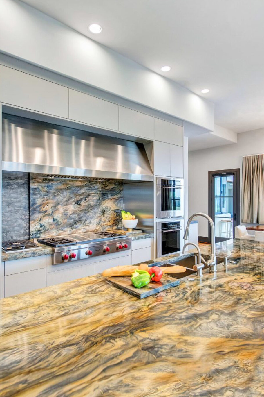 Gold Fusion Quartzite Dream Kitchen