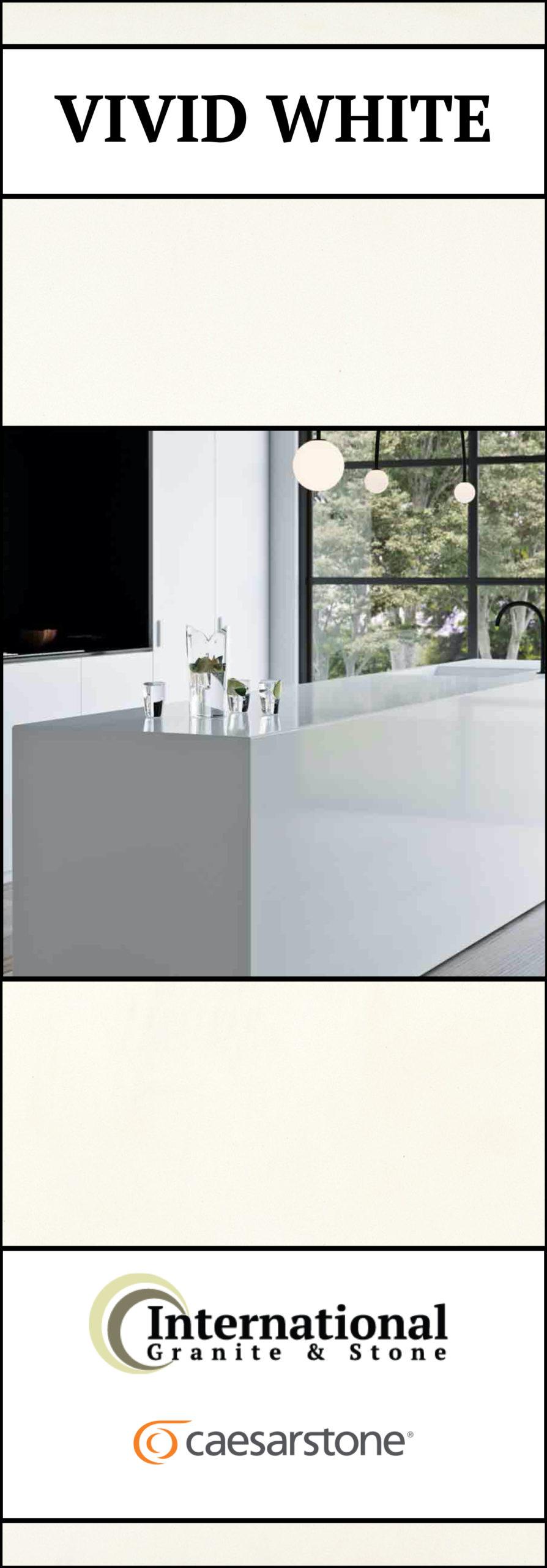 Vivid White Caesarstone Quartz Full Slab Pinterest