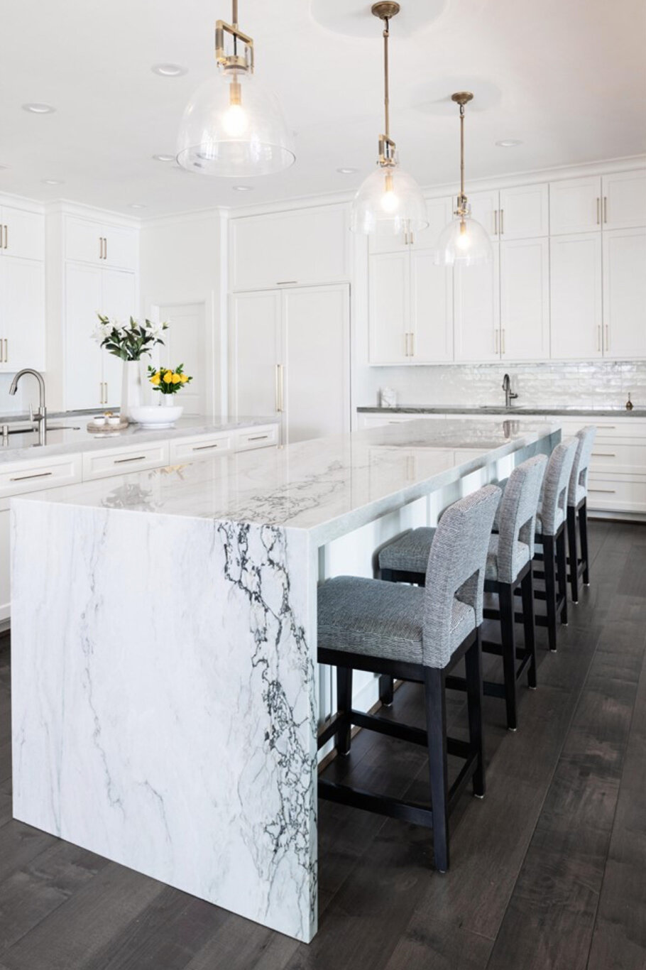 Whimsical Sea Pearl Quartzite Dream Kitchen