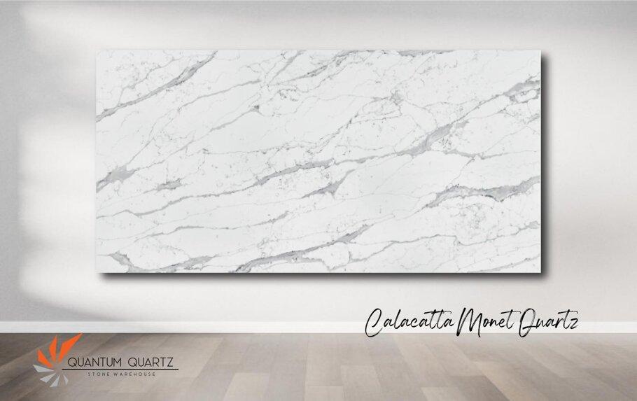 Calacatta Monet Quantum Quartz Full Slab